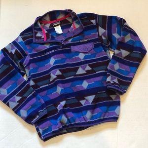 PATAGONIA vintage fleece pullover Aztec geometric